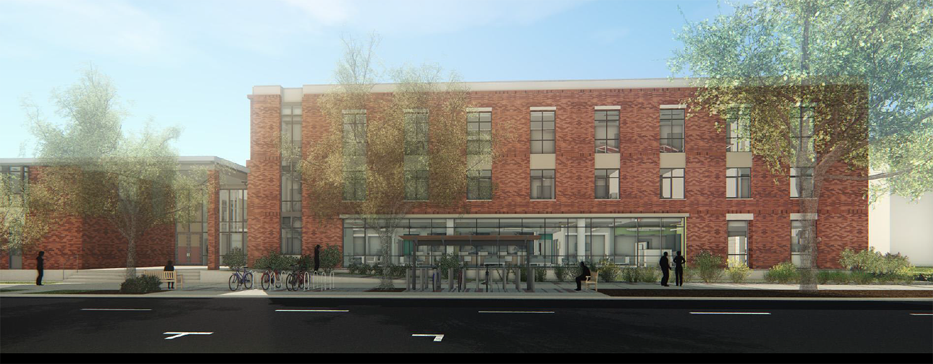 Artist rendition of remodeled health center